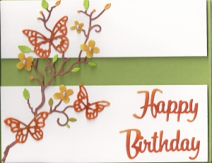 Orange butterfly bd