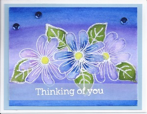 A get well card Watercolor and embossing